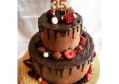 Торт без мастики на юбилей