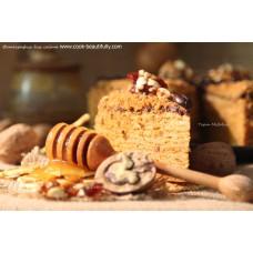 Торт Медовик на заказ в Москве<font size=2> (Москва, Балашиха, Мытищи, Фрязино, Черноголовка, Щелково)</font>